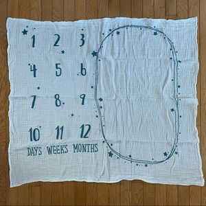 Baby milestone swaddle blanket